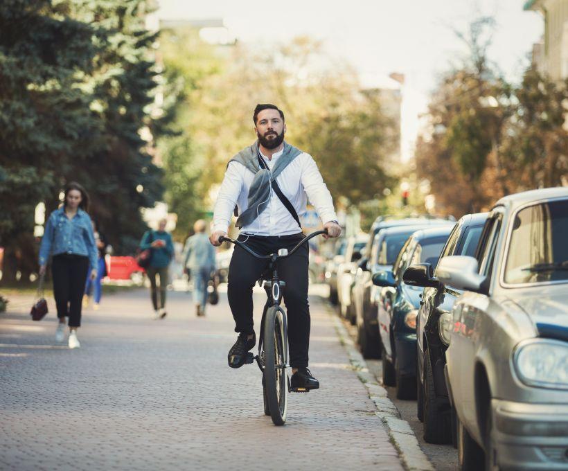 Na Hungria, a bicicleta é muito utilizada.