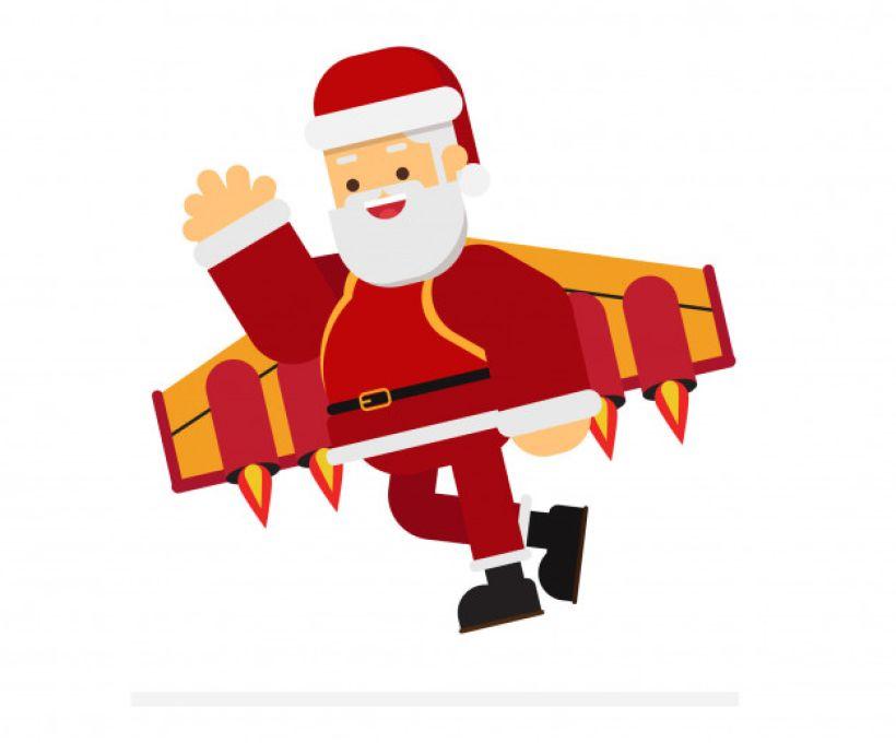 Papai Noel a jato