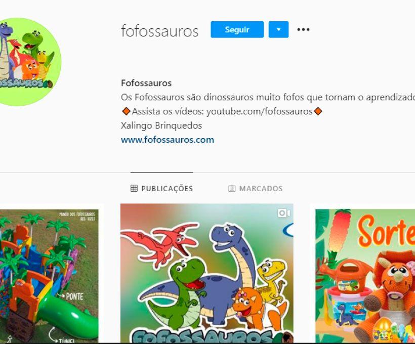 Agora os Fofossauros também estão no Instagram!