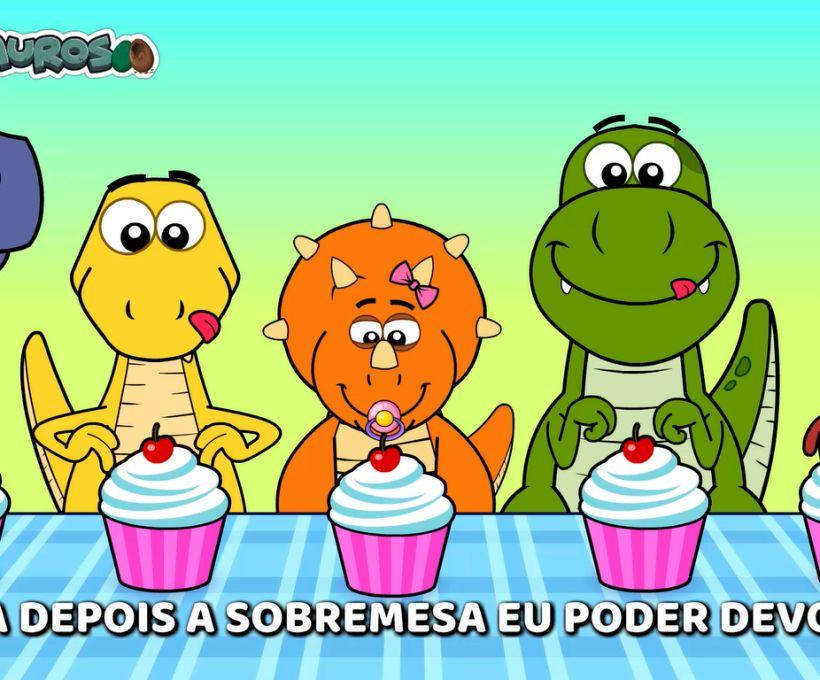 Você gostar de comer? Então vai adorar esse vídeo dos Fofossauros!